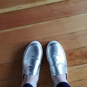 Forever 21 Gold Platform Slip-on sneaker sz 37.5